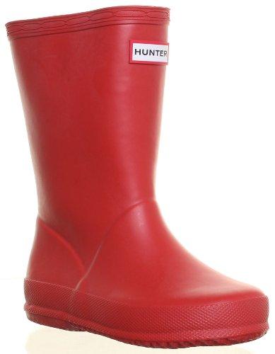 Hunter - Botas de goma para niña, color rojo, talla 30 - 31