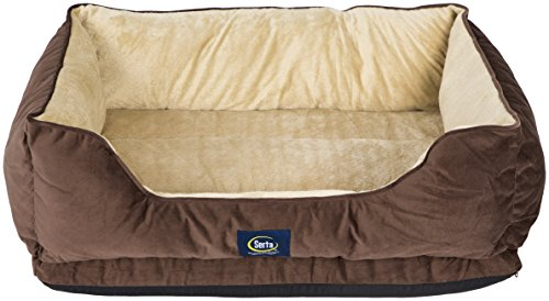 (Serta Ortho Cuddler Pet Bed, Mocha)