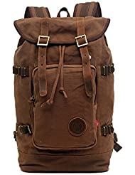 Canvas Backpack,Rucksack Hiking Bag Travel Backapck