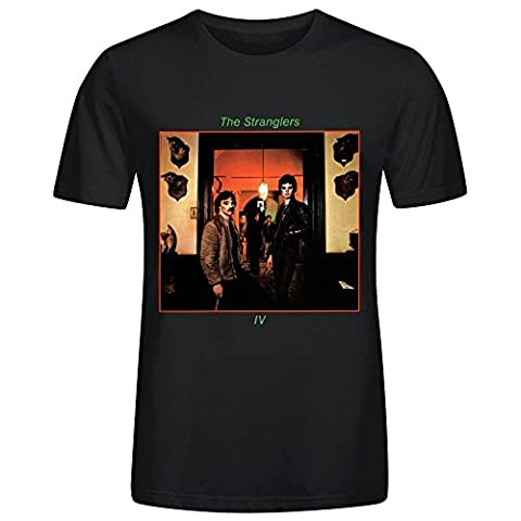 The Stranglers Rattus Norvegicus Men's O Neck Classic Tee Shirts Black (Heavy Metal Band Murder)