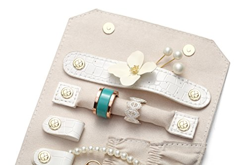 Vlando Rollie Portable Jewelry Roll, lipstick/Daily Jewelries Storage Case- (White) by Vlando (Image #5)