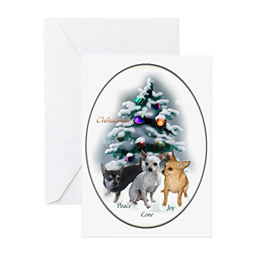 CafePress Chihuahua Christmas Greeting Card, Note Card, Birthday Card, Blank Inside Matte