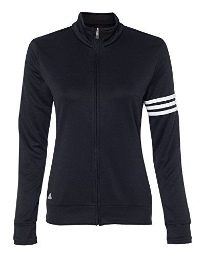 adidas A191 Ladies ClimaLite 3-Stripes Full Zip Pullover Jac