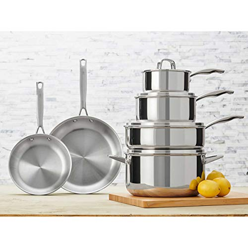 JA Henckels International 10-piece Tri-ply Stainless Steel Cookware -