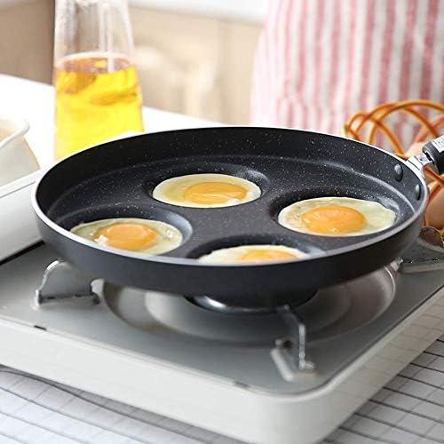 WSJ Cooking Pots Pans Poêle à Frire antiadhésive en métal Ustensiles Poêles Facile à Nettoyer, Poêle antiadhésive, Multi-usages, Crêpes à Induction, Poêle à Barbecue