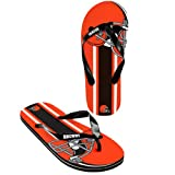 Cleveland Browns official NFL Unisex Flip Flop Beach Shoes Sandals slippers size large