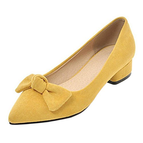 26 TAOFFEN Bas Yellow Talons Femmes Escarpins wgq8AZ