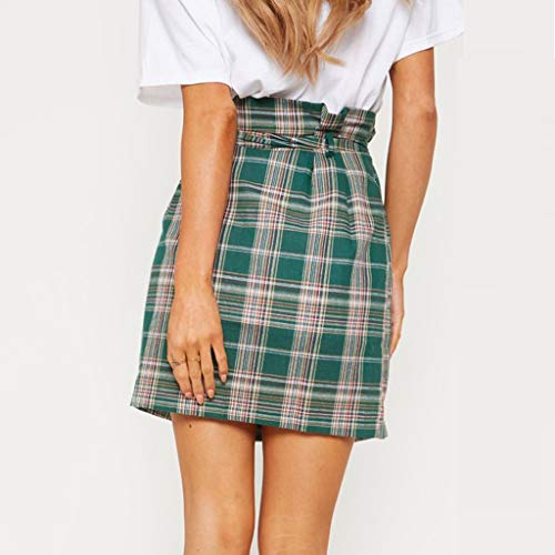 Sexy Womens Fashion Leisure Sport Mini Skirt Plaid Tie Slim Sexy Skirt by VEZAD (Image #3)