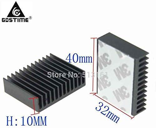 10 Piece//Lot Gdstime 40x32x10mm Amplifier Peltier Cooler Heat Sink Aluminum Radiator Heatsink Cooling