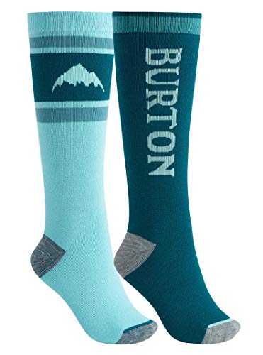 (Burton Women's Weekend Midweight Sock 2-Pack, Blue Curaçao, Medium\\Large)