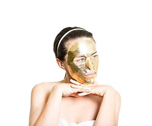 Elixir Cosmetics Gold Korean Face Mask - Moisturizing Collagen & Anti Aging Peel Off Facial Sheet Mask (1 Pack)