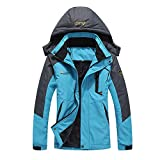 iDWZA Fashion Men's Woman's Autumn Winter Assault Clothing Thickened Fluffy Hooded Coat(Blue,US S/CN M)