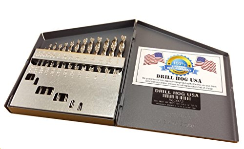 Drill Hog 13 Pc NIOBIUM Left Hand Drill Bit Set Index Drill Bits USA