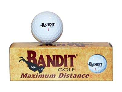 Bandit Non Conforming Illegal Maximum Distance Golf Balls 3 Count Sleeve
