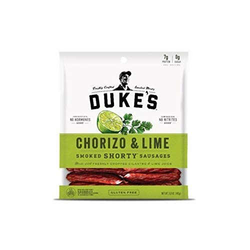 DUKE'S Chorizo & Lime Shorty Smoked Sausages, 5.0-ounce Bags (Pack of 2)
