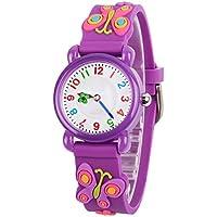venhoo Kids Relojes Cartoon niños relojes Tiempo Maestro de silicona impermeables Regalos para los niños niñas