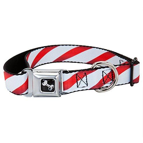 Candy Cane Striped Dog Collar - Medium