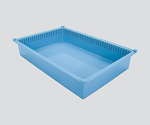 サカセ8-4374-12トレー64-10タイプ(深さ10cm)帯電防止ブルー B07BD35NJL