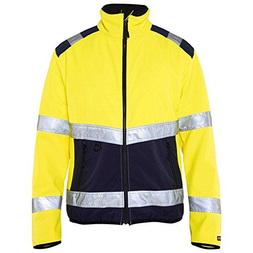 Blaklader Workwear Hi Vis Soft Shell Jacket Class 2 Yellow//Navy Blue M
