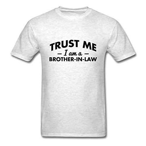 Terry Lynch USA Style Trust Me A Brother In Law men's T-shirt Light oxford XX-Large