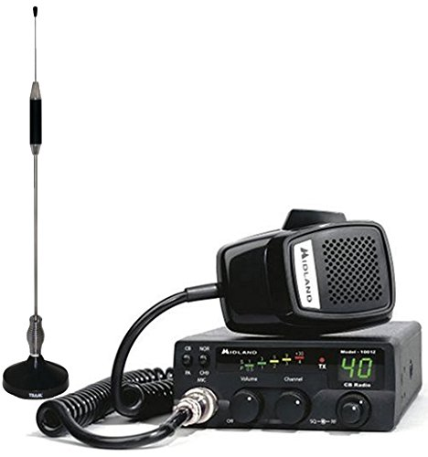 Bundle Includes 2 Items - Midland 1001Z 40-Channel CB Radio and TRAM 703-HC Center Load CB Antenna Kit