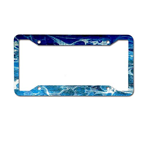 CardlyPhCardH Blue Marbling Waves Pattern Novelty License Plate Tag Metal12-Inches by 6-Inches Etched Aluminum UV Resistant 4 Holes
