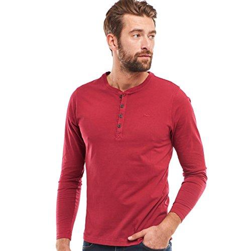 engbers Herren Henley Shirt, 24834, Rot