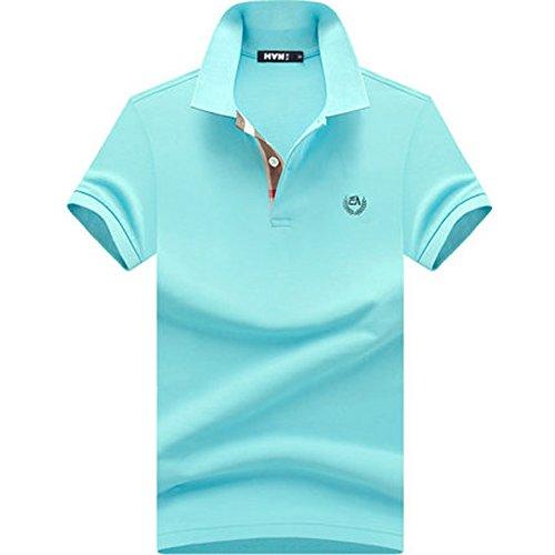 (habille) メンズ ポロシャツ 半袖 ダークトーン バーバリー チェック 柄 夏 父の日 プレゼント ゴルフウェア 鹿の子 大きいサイズ おまけ付(6カラー)
