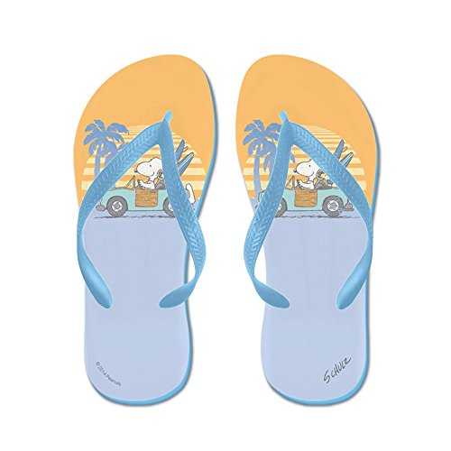 Cafepress Snoopy Beach - Chanclas, Sandalias Thong Divertidas, Sandalias De Playa Caribbean Blue