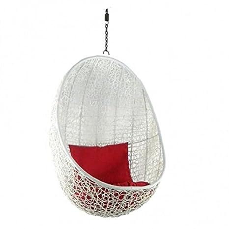 Eric swing Hanging Basket White