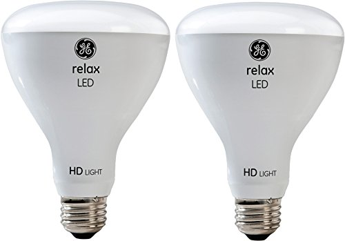 GE Lighting Relax LED HD 10-watt (65-watt Replacement), 650-Lumen R30 Light Bulb with Medium Base, Soft White, 2-Pack