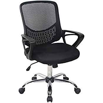 Amazon Com Bonum Black Mid Back Mesh Fabric Swivel Office Chair