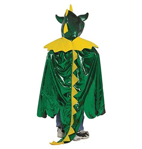 [Great Pretenders Dragon Cape, Green (Size 5/6)] (Simple Creative Costumes)