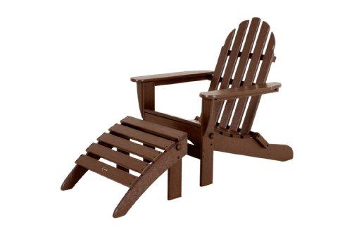 POLYWOOD PWS136-1-MA Classic 2-Piece Adirondack Chair Set, Mahogany