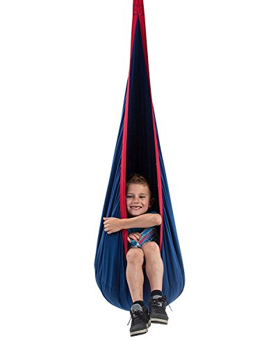 Child Pod Swing - Indoor Sensory Hammock Including All Hardware Accessories - Includes Cushion