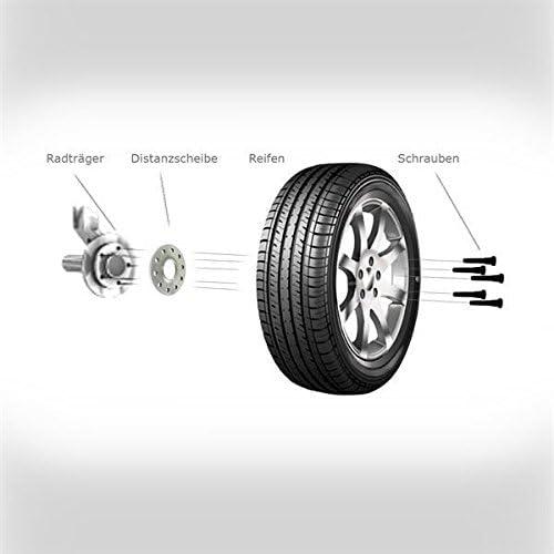schwarze Radschrauben TuningHeads//H/&R .0443079.DK.SB-2075726-SB-3075726 Spurverbreiterung BlackDrive VA 20 mm//HA 30 mm