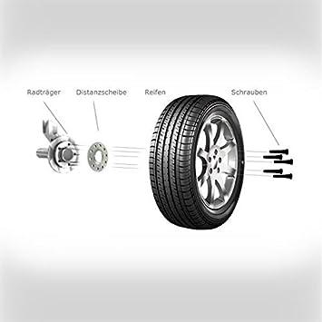 H/&R TuningHeads 0441320.DK.B1075726.B5ER-TYP-5L-5K Spurverbreiterung Blackline Radschrauben 10 mm//Achse 10 mm//Achse
