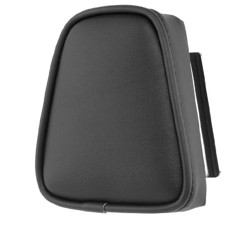 Khrome Werks Round Plain Sissy Bar Pad Black for Harley ALL