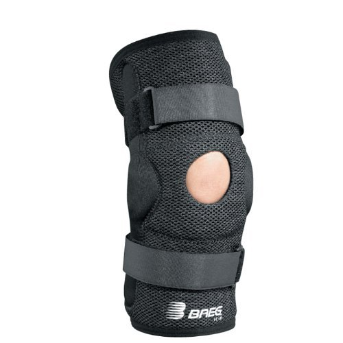 Breg Economy Hinged Knee Brace (Large Wraparound Airmesh Open Back) by Breg Braces