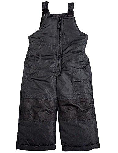London Fog - Little Boys Bib Snowpant, Black 36365-2T-FBA