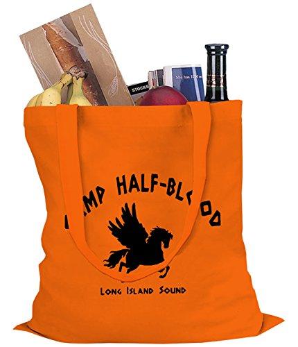 Camp Half Blood TOTE BAG, Orange, Large