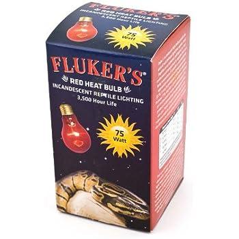 Fluker's 22802 Red Heat Bulbs for Reptiles, 75-watt