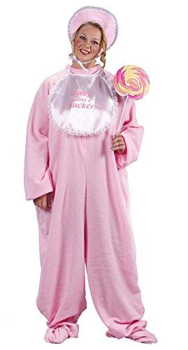 Pj Jammies Costumes (UHC PJ Jammies Pink Jumpsuit Funny Comical Theme Halloween Plus Size Costume, Plus)