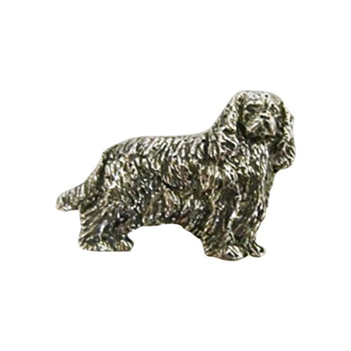 Collectible Wildlife Gifts Full Body Cavalier King Charles ~ Lapel Pin/Brooch ~ CWG-D344F ~ Pewter