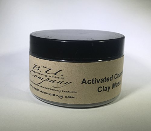 Activated Charcoal Clay Mask - All Natural Handmade - BU Company - 4 oz by The BU Company