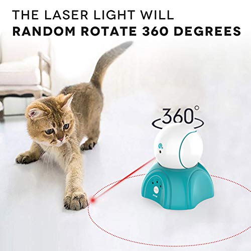 petnf Cat Laser Toy,Laser Ball for Cats,Cat Toys Interactive,Non-Toxic and Eco-Friendly Cat Toy with Three Play Mode,Separation Design and Timer Setting Laser Toy,360°Automatic Rotating Laser Toy 3