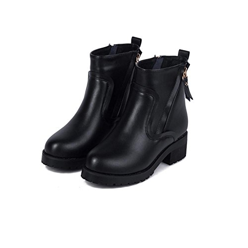 Ladies Short Boots Winter Big size Shoes, 37, black