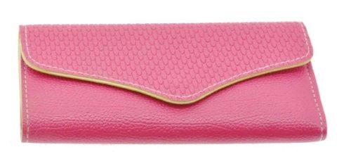 Bond Leather Wallets for Women, Travel Wallet, Women Wallet (Hot Pink)