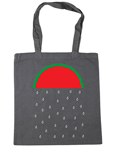 x38cm Gym Shopping litres Graphite Beach Watermelon Tote 42cm 10 Grey Bag HippoWarehouse Rain vI8Hxq