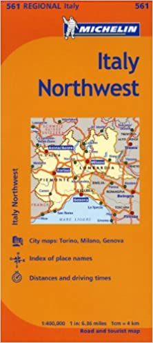 Driving Map Of Italy.Michelin Italy Northwest Map 561 Maps Regional Michelin